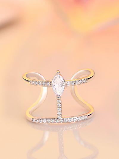 Radiant Knuckle Adjustable American-Diamond Ring