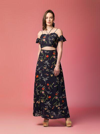 fabulous fiona floral print cut-out dress