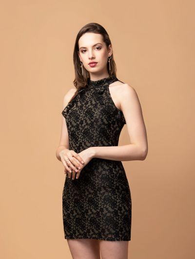 Alluring Anastasia Black Lace Dress