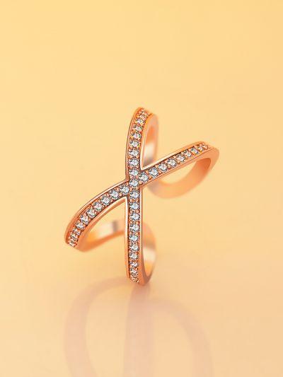 Elena's Entangled Adjustable CZ Ring- Rose Gold
