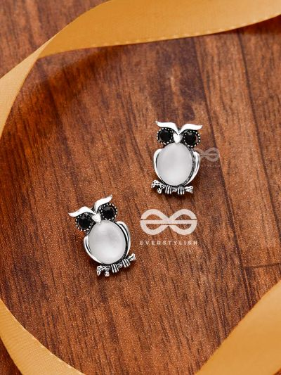 The Little Embellished Owls- Tiny Trinket Earrings