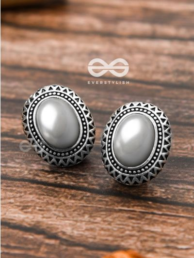 The Little Pearly Aztec Studs - Tiny Trinket Earrings