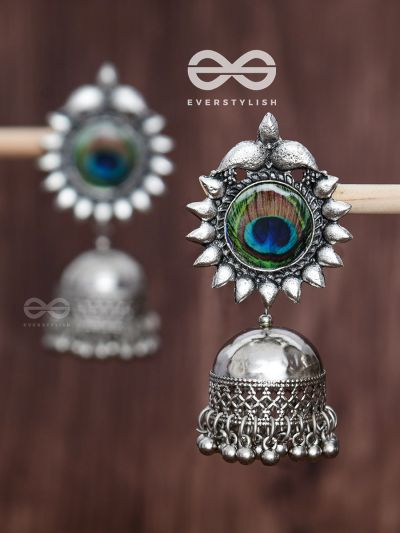 The Artsy Peacocks - Oxidised Boho Jhumkis