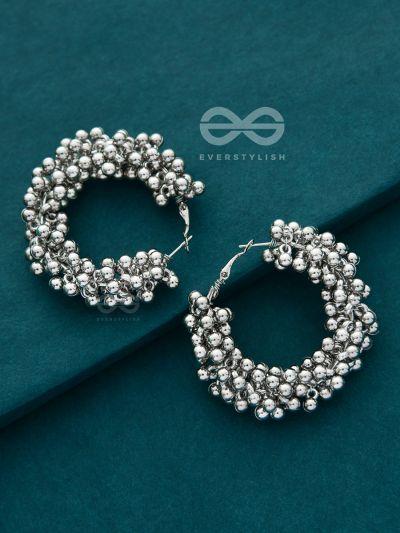 A Glimmer of Shimmer - Playful Embellished Hoops (Silver)