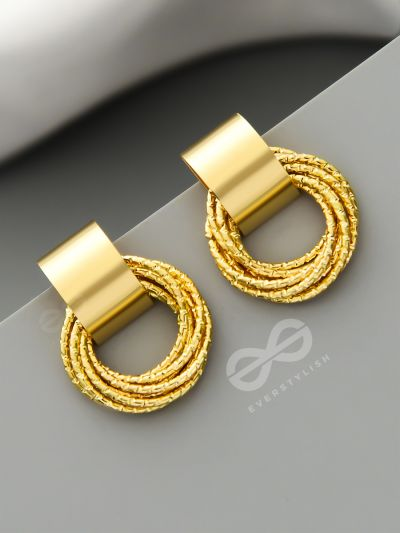 A Chunk of Gold - Statement Earrings