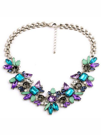 A mysterious myriad of  sparkling hues party necklace