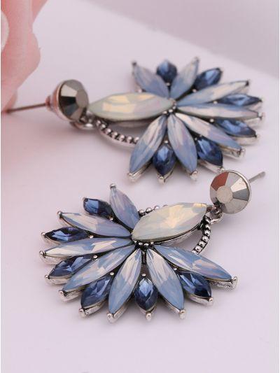 Flower Power Scintillating Blue Earrings