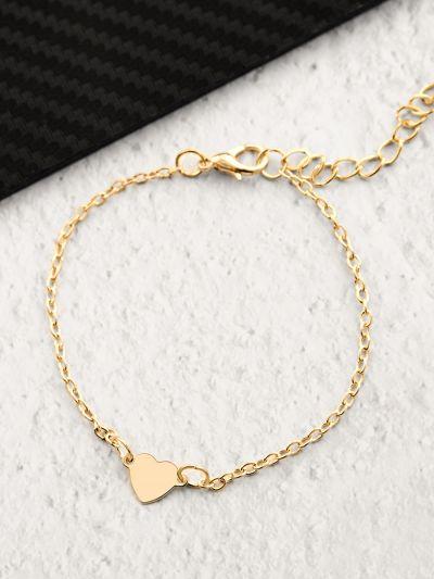 Little Heart on my Sleeve- Casual Golden Bracelet