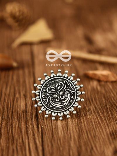 The Vintage Artistic Sun - Oxidised Boho Ring