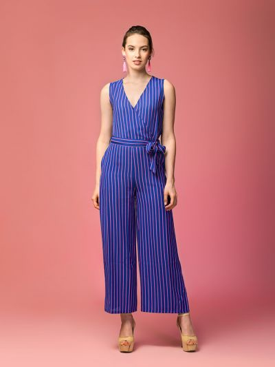 iconic isabella striped jumpsuit