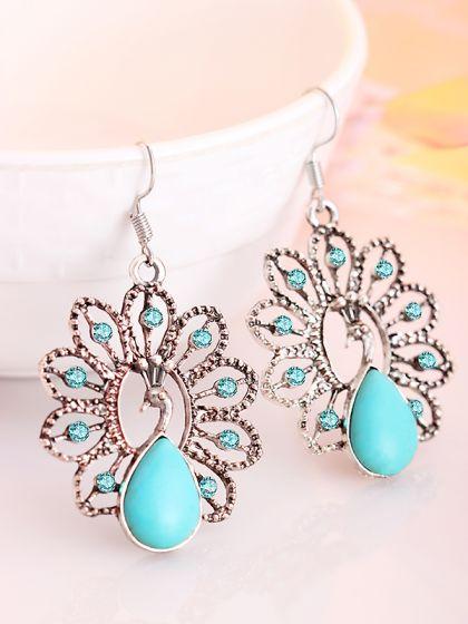 Royal Dancing Peacock Earrings