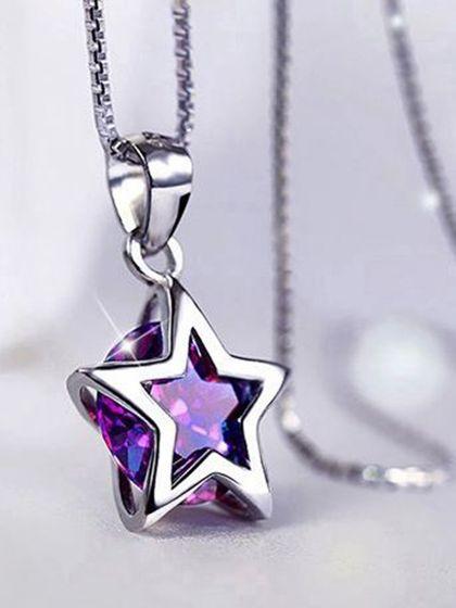 Twinkling Star Purple AD Pendant