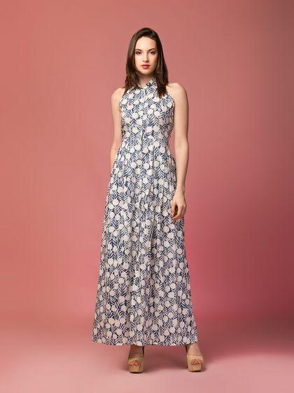 Serene Stella Button-down Dress