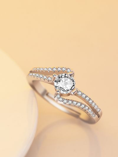 Twining Talisa Solitaire Adjustable CZ Ring