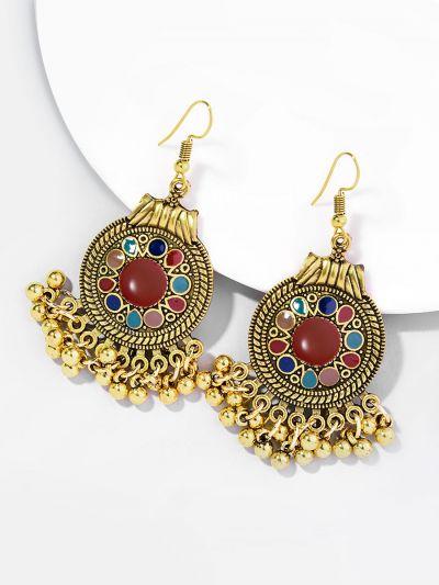 Elegant Eliza Ethnic Style Golden Earrings