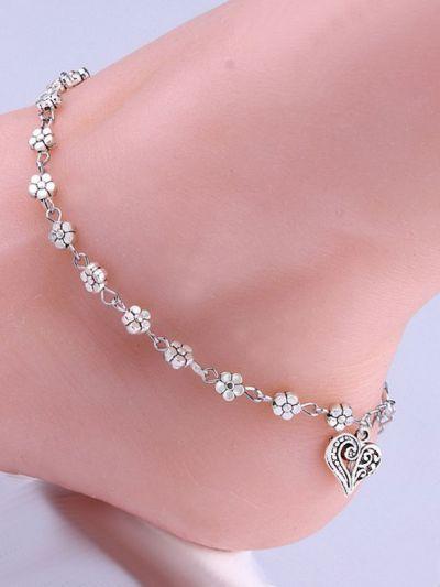 Silverette Floral Anklet