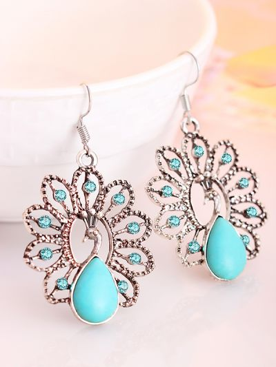 Royal Dancing Peacock Earrings