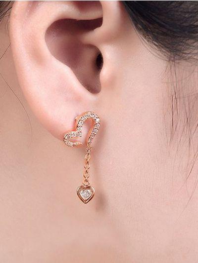Hearts Fall in love AD Earrings