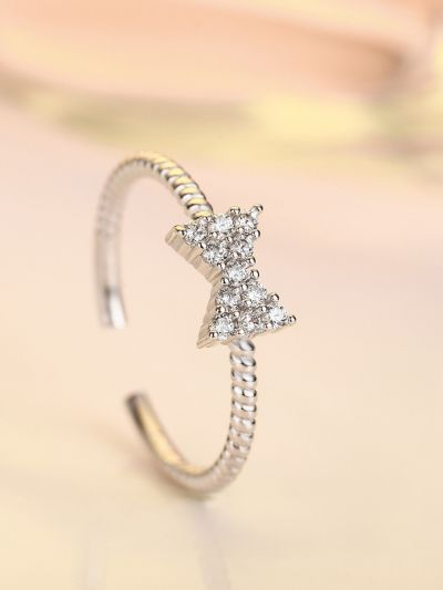 Blissful Bowknot American Diamond Ring