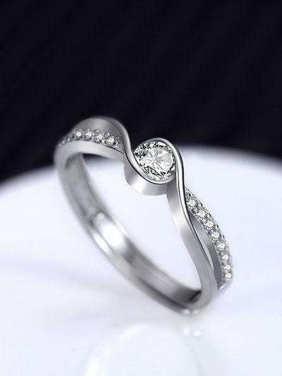 Stunning Scarlet Adjustable American-Diamond Ring