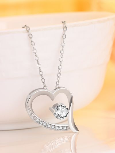 Cross My Heart American Diamonds Neckpiece