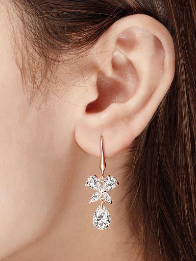 Benevolent Butterfly Drop CZ Earrings