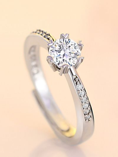 Dazzling Diamontre AD Adjustable Ring