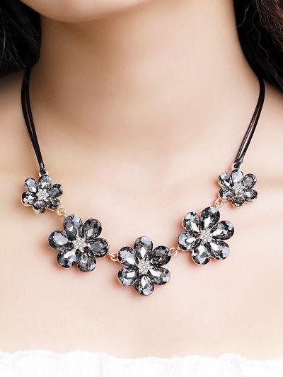 Beguiling Black Floral Cut Neckpiece