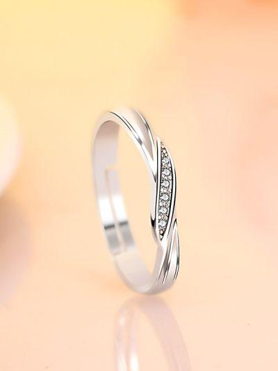An Elegant Twist Adjustable CZ Ring