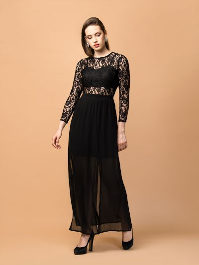lavish layla Black lace dress