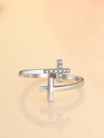 Charismatic Catholic Cross CZ Ring