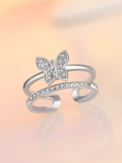 Beguiling Butterfly Bud Adjustable AD Ring