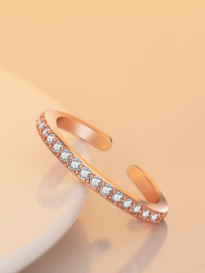 Leana's Linear Adjustable AD Ring- Rose Gold