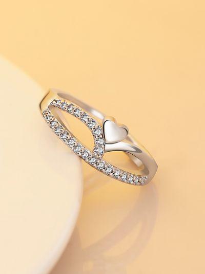 Eternal Heart Adjustable CZ Ring