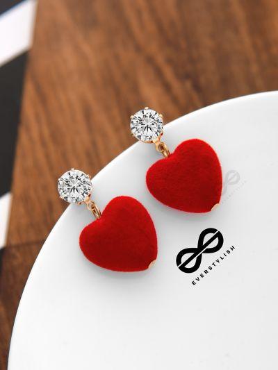 A Valentine's Tale - Beautiful Heart Earrings