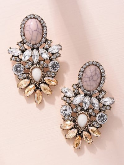 The Royal Affair Studded Dazzling Earrings