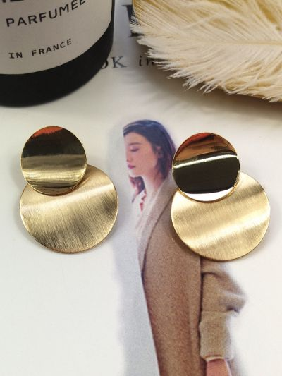 Glorious Golden Circles Geometric Earrings