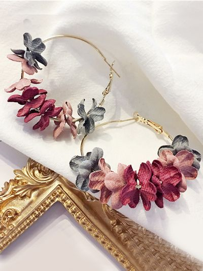 An Autumn Blend- Floral Delight Hoops- Multicolour