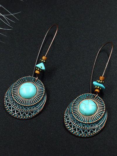 Boho Girl's Penchant for Ethnicity- Turquoise Earrings
