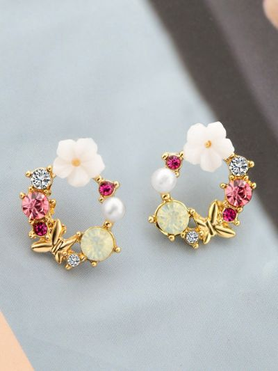 The Essence of Spring - Cute Embellished Earrings