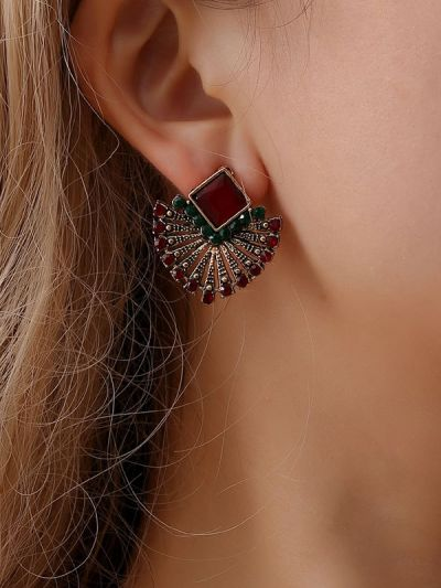 The Chic Ethnicity- Embellished Stud Earrings