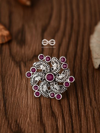 I'm a Whirlwind (Ruby Red) - The Embellished Oxidised Collection