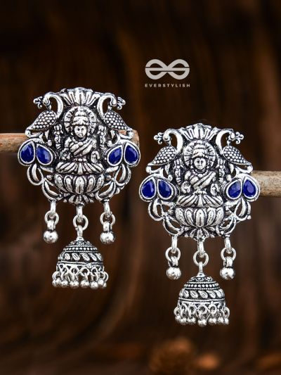 The Divine Goddess (Sapphire Blue) - Embellished Oxidised Collection