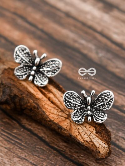 The Beauteous Butterfly Studs - Tiny Trinket Earrings