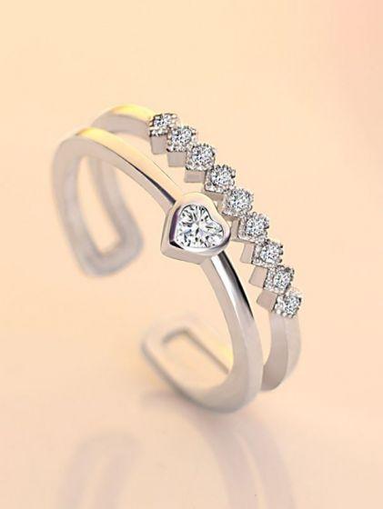 Charismatic Cupid Heart AD Adjustable Ring