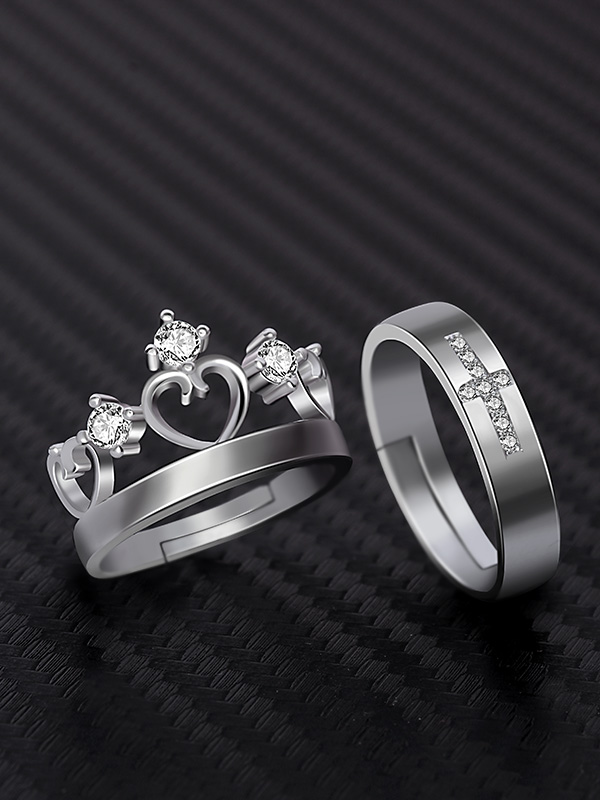 Royal King Queen Set of Couple Rings